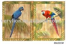 Parrot Canvas Painting 2asstd