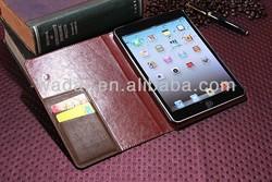 New Product retro leather case for ipad mini 2
