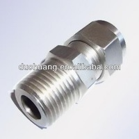 China Electrical Equipment&Supplies Terminals SS304 Stainless Straight Connectors