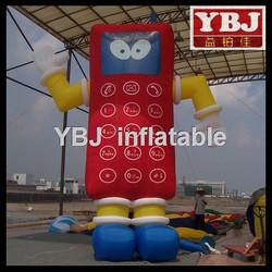 lovely giant inflatable phone cartoon/cheap giant inflatable phone
