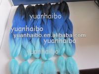 "STOCK! Top quality 20"" ombre color 100% kanekalon super jumbo braid hair wholesale cheap price"