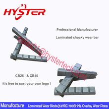 versatility and long life laminated chokblocks white iron casting parts for loader bucket wear protection