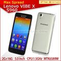 Lenovo s960 vibe x mtk6589t dört çekirdekli çok- dil 2014 yeni model android cep telefonu