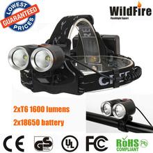 waterproof bicycle light 2xR2 600 lumens