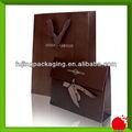 dark brown sacos de papel para revestimento com nome da marca