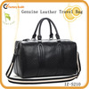 Fashion design genuine leather travel bag for men
