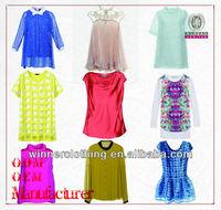 shenzhen clothing factory ladies' name brand plus size clothing