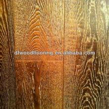 American White Brushed Oak Hardwood Engineered Wood Flooring