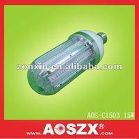 Ultra bright Replace CFL Garden light 360 degree 15W 1500LM warm white DC led corn cob 24 volt