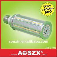 Hot selling! Ultra birgt! 10W SMD LED Corn light Bulb 12V 24V 1120LM E27 E40 +Aluminum Alloy lamp body +2year warranty
