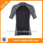 high stretch polyester compression Shorts Sleev Rash Guard