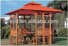 golden select wooden pavilion