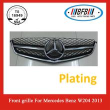 for Mercedes Benz auto parts ABS Chrome Flat Black front Grille