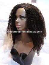 wholesale fashion remi u part curly wigs for black women