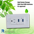 Flush type wall socket with USB UL approved