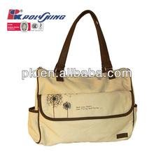 Customized logo printed canvas handbag(PK-11160)