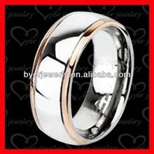 Rose gold titanium couple rings