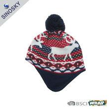 100% acrylic knit hat patterns kids