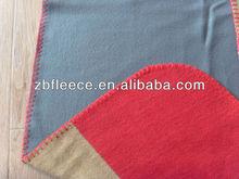 100% polyester antipilling/not antipilling bonded polar fleece fabric