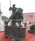 Bronze sculpture, Riding a lion god