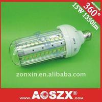Year End Sale! good heat sink! 15W LED Corn light bulbs 12V 24V 220v 230v 1568LM E27 E40 LED corn lamp bulb AUMINUM alloy