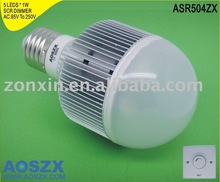LED dimmable light 5*1W 500LM AC85-250V Dimmer E27 /B22 /GU10