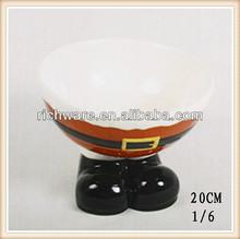 Hot sale ceramic santa pants bowl for kitchen decoration