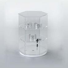 Plastic jewelry travel showcase locks storage for jewelries
