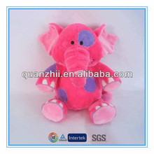 Custom plush purple and red elephant toys for kids