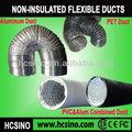 Não-isolado duto flexível de alumínio para a cozinha/banheiro/ar condicionado