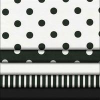 China wuxi 100%cotton black white striped satin fabric