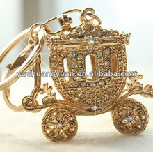 Wholesale Korean Enamel Crystal Rhinestone Crown Carriage KeyChain , Key Chain , KeyRing SY14972