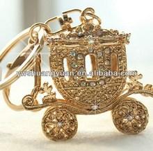 Wholesale Korean Enamel Crystal Rhinestone Crown Carriage KeyChain , Key Chain , KeyRing SY14972