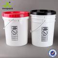 yuvarlak 20l plastik kova kapak ve metal kulplu endüstriyel ambalaj ve gıda paketleme
