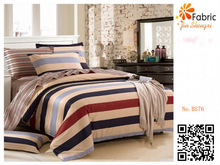 BS76 100% cotton red black white stripe fabric for home bedding sets