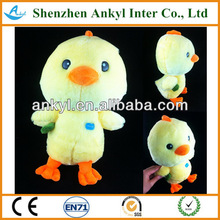 chicken toy promotion item plush yellow chicken toys with good quality