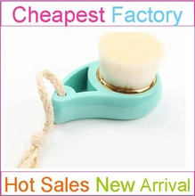 face wash brush face cleaning brush exfoliating face brush 0.04 synthetic hair with blue plastic handle