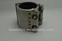 tube repair clamp for all metal pipes