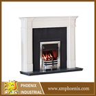 white marble wood fireplace mantle modern