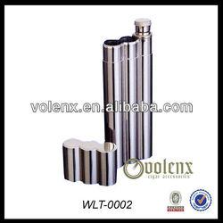 Shenzhen Stainless Steel Cigar Case Flask Wholesale(SGS&BV)