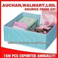 acolchado de tela caja de almacenamiento cosméticos compartimiento organizador caja del cajón
