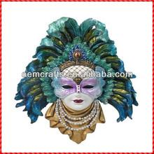 Popular handmade peacock carnival Wall plaque mask