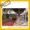 Roadphalt type of color green asphalt pavement