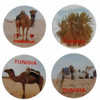Round souvenir gifts customized paper fridge magnet for travelling
