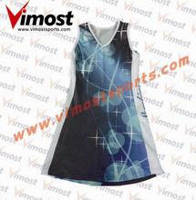 2014 new design women tennis dress/netball tops and skirts
