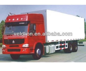 SINOTRUK 6x4 VAN cargo truck 290HP 15tons