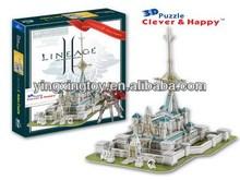 World famous building 3d paper puzzle