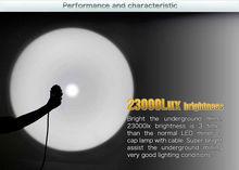 WISDOM KL12M cap saving lamps led light diving 15m underwater 25000lux 1240mah 300lumen 600g