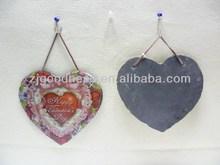 Hot Sale Heart Slate Hanging Crafts