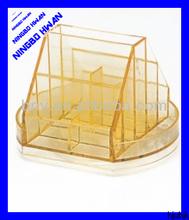 High quality transparent clear square plastic desktop organizer